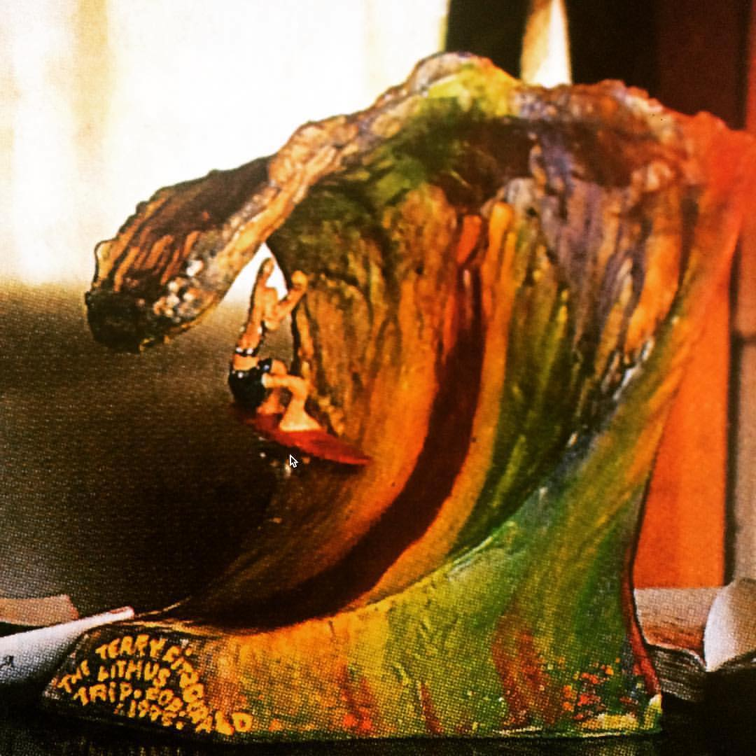 Terry Fitzgerald (Gerald FitzTerry) Litmus Trip Trophy 1995, made by Sutho. Reposted from Val Dusty/Litmus coconspirators @jon_frank_ and @andrewkidman. Check out the work they're doing over at @beyond_litmus