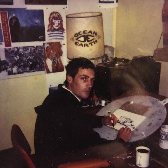Sutho hard at it. Coledale '95